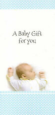 A BABY GIFT VOUCHER / MONEY WALLET BOYS / GIRLS NEW BORN / ARRIVAL CHRISTENING
