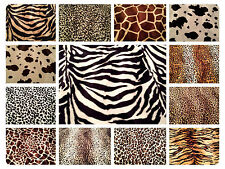 ANIMAL PRINT VELBOA FAUX FUR VELOUR FABRIC MATERIAL - SOLD BY 1/2 METRE OR METRE