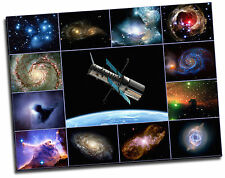 The Hubble Telescope Space Photographs Framed Giclee Canvas Picture