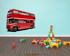 Double Decker London Bus - Childrens Bedroom Wall Art - Various Sizes