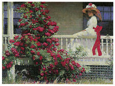 1211 Admiring Red Flowers Art Decoration POSTER.Graphics to decorate home office