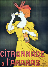 2430. Citronnade a L'ananas Nouveau Ad Art Decor POSTER. Home Graphic Design.