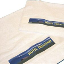 Personalised LARGE or SMALL Cotton Towel - Any Text / Logo / Design - Great Gift