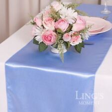 """30+ Colors 1/5/10/30 12""""x108"""" Satin Table Runner Wedding Party Decor"""