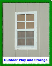 SHED WINDOW PLAYHOUSE BARN STORAGE BUILDING BUILD SMALL GLASS 14X27 WHITE