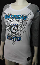 IR AMERICAN FIGHTER BY AFFLICTION WOMEN'S 3/4 SLEEVE GRAPHIC RAGLAN TEE* S-XL