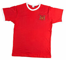 Retro Nottingham Forest Football T Shirt Embroidered Logo New Sizes S-XXXL