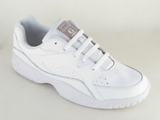 Mens Gaudi White Leather Lace Up Wide Fit Trainers Size 6 7 8 9 10 11 12 13 14