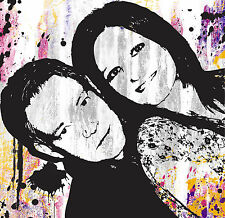STYLISH URBAN ART PORTRAIT ON CANVAS FROM YOUR PHOTO! Choose Size & Colour