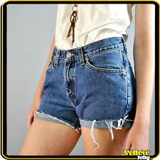 LEVIS VINTAGE HIGH WAISTED BLUE WOMENS LADIES DENIM SHORTS SIZE 8 10 12 14 16