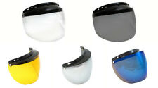 Universal 3 Snap Flip Up Visor Shield for Open Face Motorcycle Helmets
