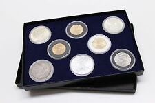 DISPLAY BOX FOR COINS IN AIRTITE CAPSULE HOLDERS 8 H BLUE FELT INTERIOR