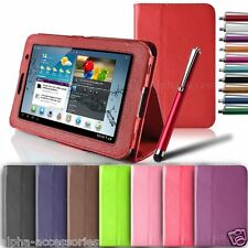 """Premium Leather Stand Folio Case Cover For Samsung Galaxy Tab 2 P3100 P3110 / 7"""""""