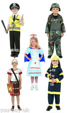 Kids Army, Police and Fireman Boy, Vintage Nurse and Roman Soldier Costume
