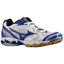 Mizuno Wave Bolt Women's Volleyball Shoes NIB White/Royal Various Sizes