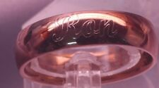 Rose Gold Personalized Ring 316L Stainless Steel Ring engraved inside & outside