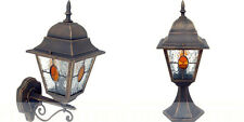 TRADITIONAL AGED  VICTORIAN STYLE METAL GARDEN OUTDOOR LANTERNS LIGHTS