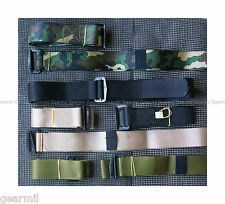 BDU BELT size 44 Nylon Adjustable B.D.U. BELT OD Black Woodland Camo Khaki NEW