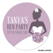 PERSONALISED Hen Do Party Wedding Bride Bags Favour Sticker Labels - 01