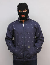 $$ Crooks & Castles White Shark Jacket Mens Navy Rare FREE Shipping $$