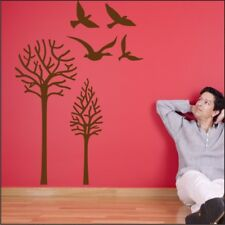 BIRD art decals large tree branches removable Wall stickers vinyl sticker