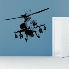 Apache Helicopter Wall Stickers Army Bedroom Military Graphic transfer decal