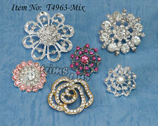 U PICK - Crystal Rhinestone Shank Buttons Buckles Charms Crafts x 6 Styles #4963