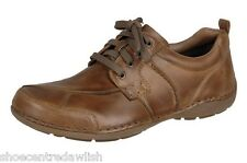Mens Rieker 05510-26 Tan Leather Lace Up Casual Smart Lightweight Shoe