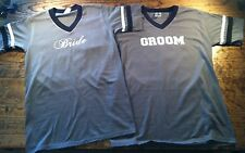 Bride and Groom Custom Jersey T-shirts