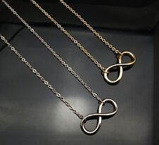 vintage infinity necklace Chain 8 Symbol LOVE FOREVER Future Pave