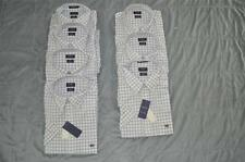 Arrow Dover Oxford Mens Dress Shirt Short Sleeve Bright White & Blue Checker NWT