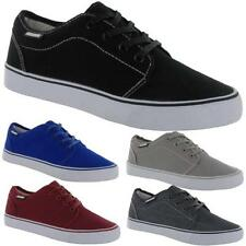 MENS LAMBRETTA CANVAS SHOES BOYS CASUAL LACE UP PUMPS TRAINERS PLIMSOLLS SHOES
