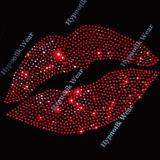 """Rhinestone Transfer """" SEXY LIPS """"  Iron On, Hotfix, Bling PICK YOUR COLOR"""