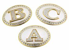 Men Women Belt Buckles Initial Letter Usa American Alphabet Monogram Western New