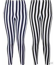 NEW WOMENS PLUS SIZE STRIPE PRINT VISCOSE ELASTICATED STRETCH LEGGING 12-16
