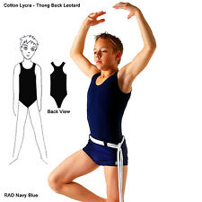 Mens Boys Cotton Lycra Thong Back Leotard - Dance Ballet Gymnastics Sleeveless
