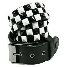 Lowlife Triple S - Black & White Belt - Brand New Official Leather Belt