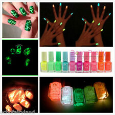 Candy Colors Fluorescent Neon Luminous Nail Art Polish Varnish Glow In Dark New