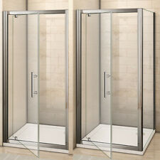 Shower Enclosure Pivot Glass Door Walk in Cubicle Screen Side Panel 70-100cm