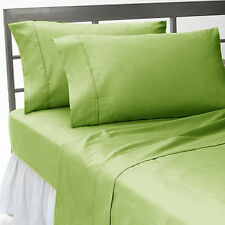 SAGE SOLID COMPLETE USA BEDDING 1000TC 100% COTTON CHOOSE SIZE AND ITEMS