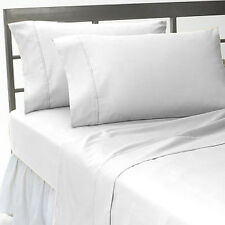WHITE SOLID COMPLETE USA BEDDING ITEM 1000TC 100% COTTON CHOOSE SIZE AND ITEMS
