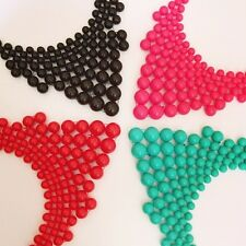 Colourful, Bright, Statement, Plastic Beaded Necklaces By Chi22 London