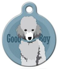 GOOD BOY TOY POODLE - Custom Personalized Pet ID Tag for Dog and Cat Collars