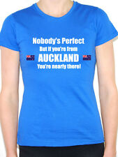 AUCKLAND - NOBODY'S PERFECT - North Island New Zealand Themed Womens T-Shirt
