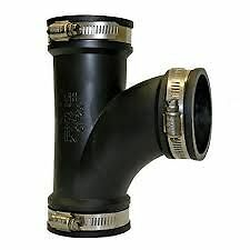 Flexible Tee Rubber Pipe Connector Coupling Drainage Ponds DIY NEXT DAY DELIVERY