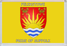 Suffolk Pride County Flag Badge - Jumbo Fridge Magent - Gift/Present