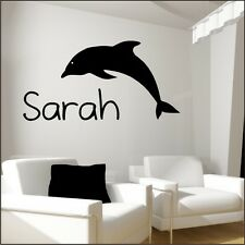 DOLPHIN Wall art Sticker transfer vinyl bathroom decal stickers large stencil