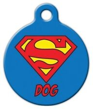 SUPER DOG - Custom Personalized Pet ID Tag for Dog and Cat Collars
