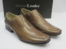SALE LOAKES MENS SLIP ON SHOE 'MATTHEW ' BROWN LEATHER UK 8