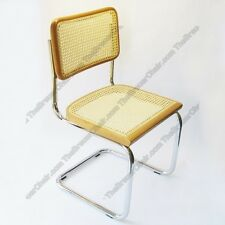 New Original Marcel Breuer Cesca Side Chair Cane w/ Chrome Finish Made in Italy